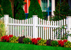 Heavy-Duty Vinyl Picket Fence