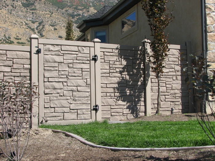 Simulated Stone Fence Simtek Fence Direct Ecostone Fencing