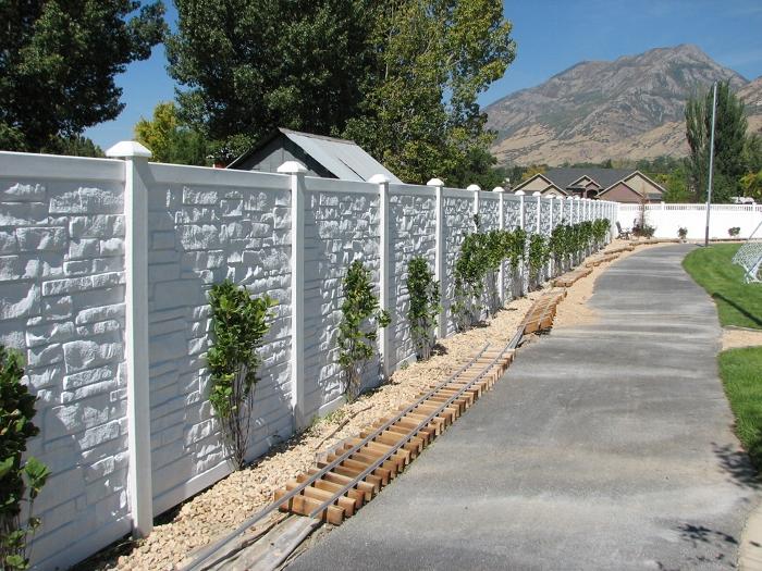 Simulated Stone Fence Simtek Fence Direct Ecostone Fencing