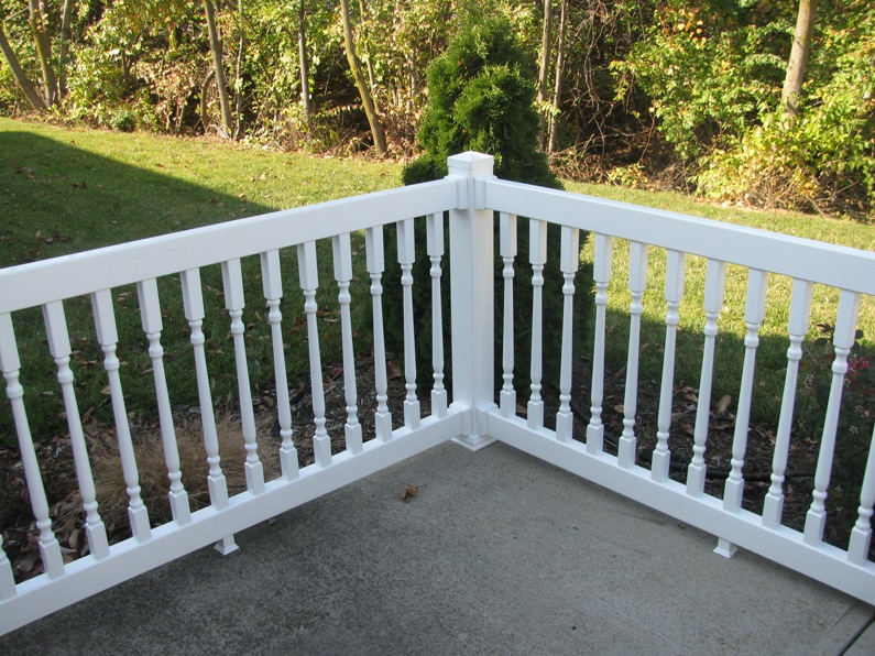 Boston vinyl railing vinyl fence wholesaler - Vinyl deck railing lowes ...