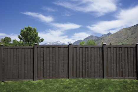 Brown vinyl privacy fence Elegant Walnut Brown Ashland Privacy Fence Panels Vinyl Fence Wholesaler Ashland Privacy Fence Panels Simtek Ashland Fence Factory Direct
