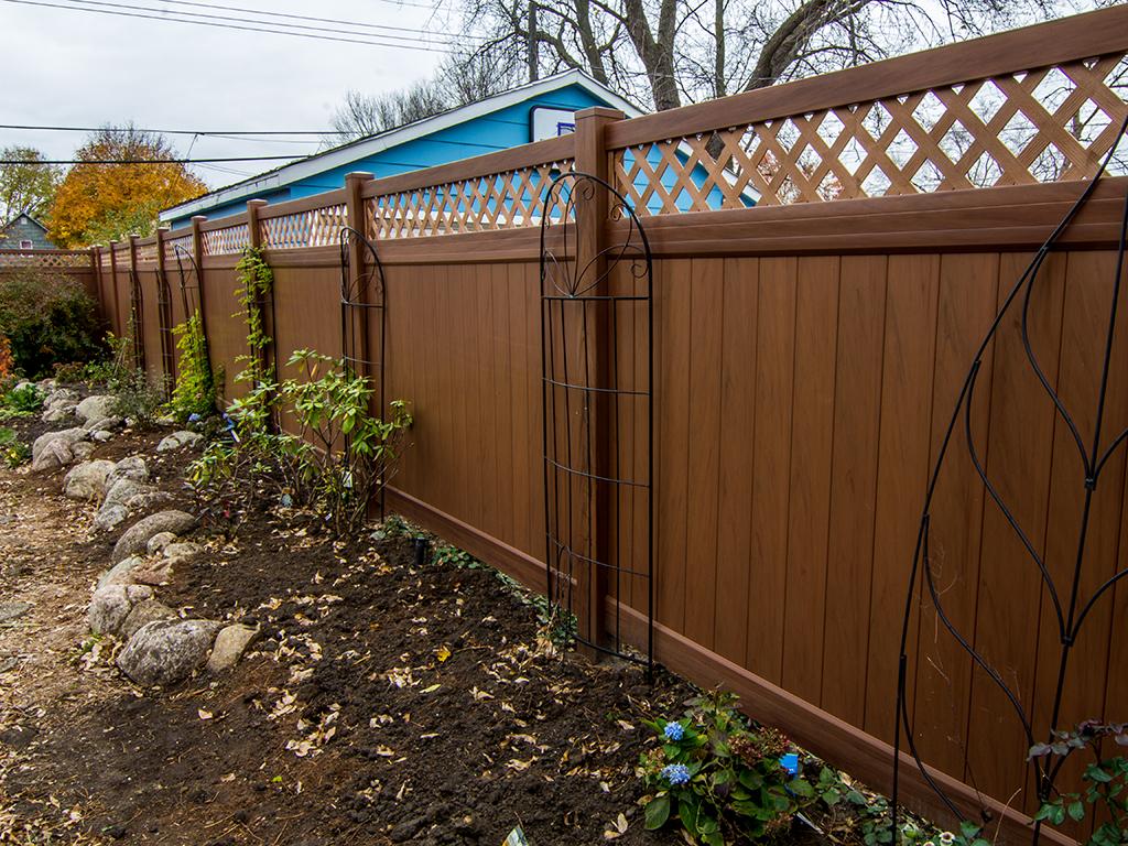 Brown Vinyl Fencing