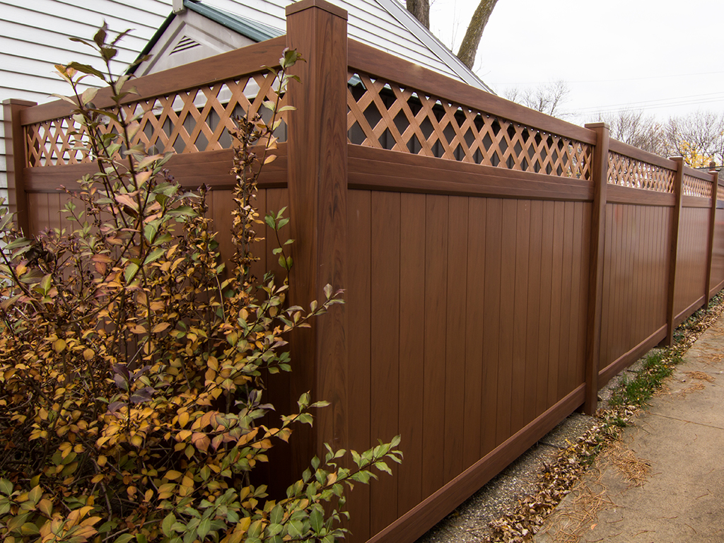 Brown Vinyl Privacy Fence