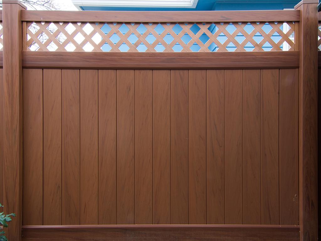Mocha walnut vinyl fence factory direct vinyl fence wholesaler mocha walnut vinyl fence baanklon Choice Image