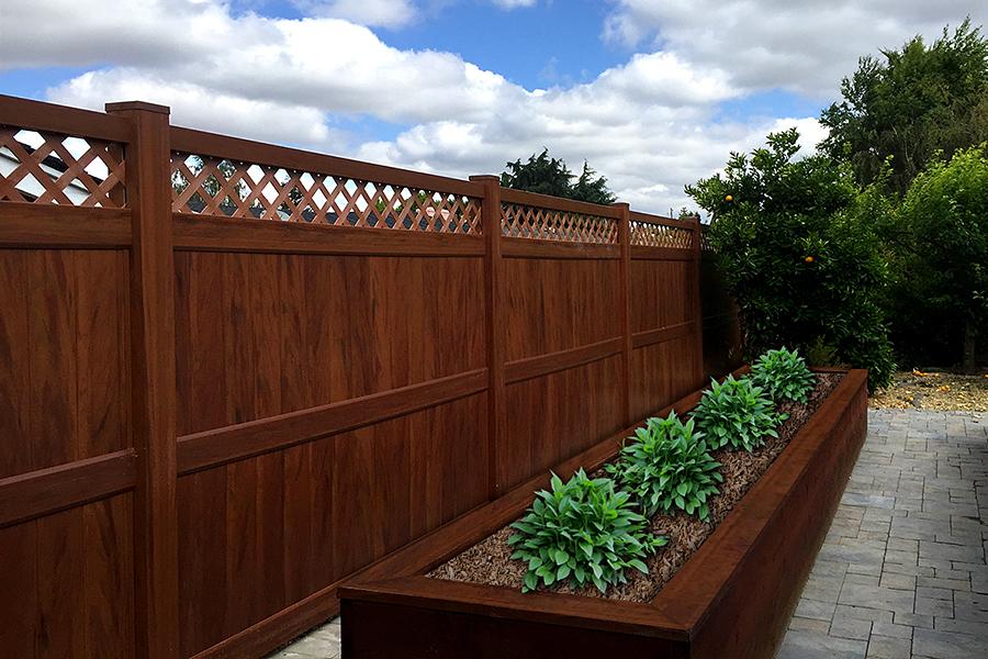 Mocha Walnut Vinyl Fence Panel