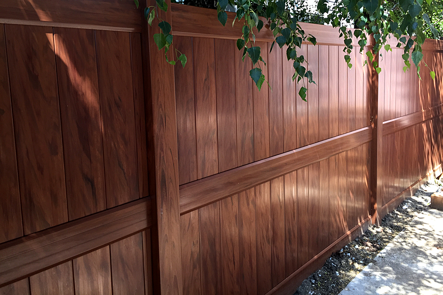 Mocha Walnut Vinyl Fence Factory Direct