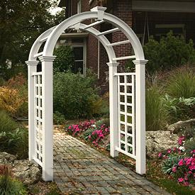 Vinyl Garden Arches Vinyl Arbor Arches From Vinyl Fence