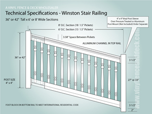 Stair railing factory direct