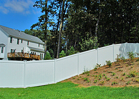 Vinyl Privacy Fence by Vinyl Fence Wholesaler - Heavy Duty Vinyl Fence Factory Direct. 507-206-4154 www.vinylfenceanddeck.com