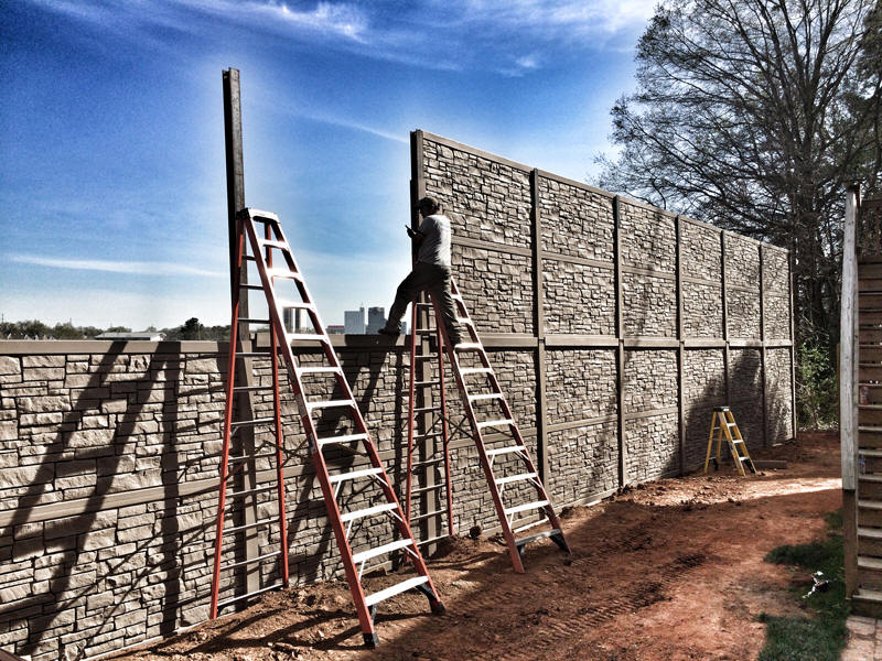 Simulated Stone Fence by SimTek Fence Granite Fence on