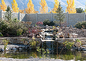Simulated Stone Privacy Fence by Vinyl Fence Wholesaler - Heavy Duty Vinyl Fence Factory Direct. 507-206-4154 www.vinylfenceanddeck.com