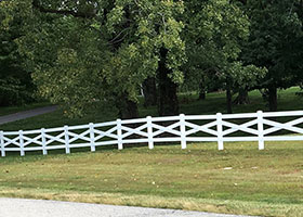 PVC crossbuck fence