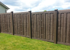 Ashland Privacy Fencing Walnut Brown Color