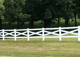 crossbuck fences