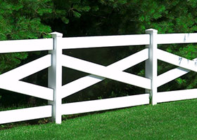 clay crossbuck fence