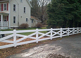 clay crossbuck fencing