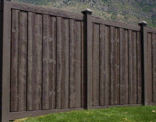 Brown vinyl privacy fence Golden Brown Mocha Walnut Fence Ashland Privacy Fence Vinyl Fencing Vinyl Fence Wholesaler Wholesale Vinyl Fence Supplier Manufacturer