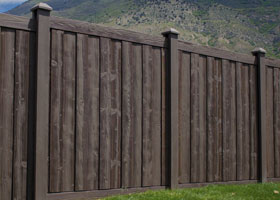 Walnut Brown privacy fence panels
