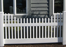 Concord vinyl picket fence