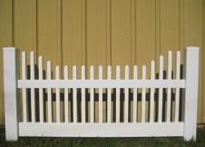 Concored vinyl fence