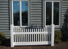 Concord vinyl picket fence panel