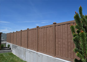 8' Tall Ashland Privacy Fence Red Cedar
