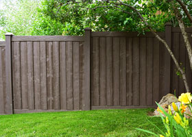 6' Tall Walnut Brown Ashland Privacy Fence