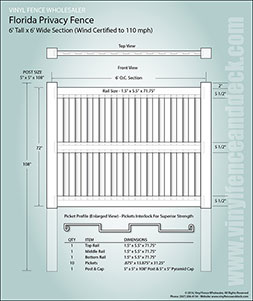 8 Foot Tall Florida Privacy Fence