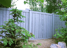 Nantucket Gray Ashland Privacy Fence Panels