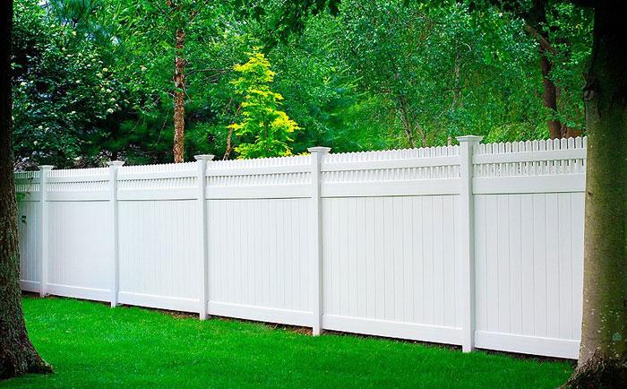 Vinyl privacy fence commercial grade fencing