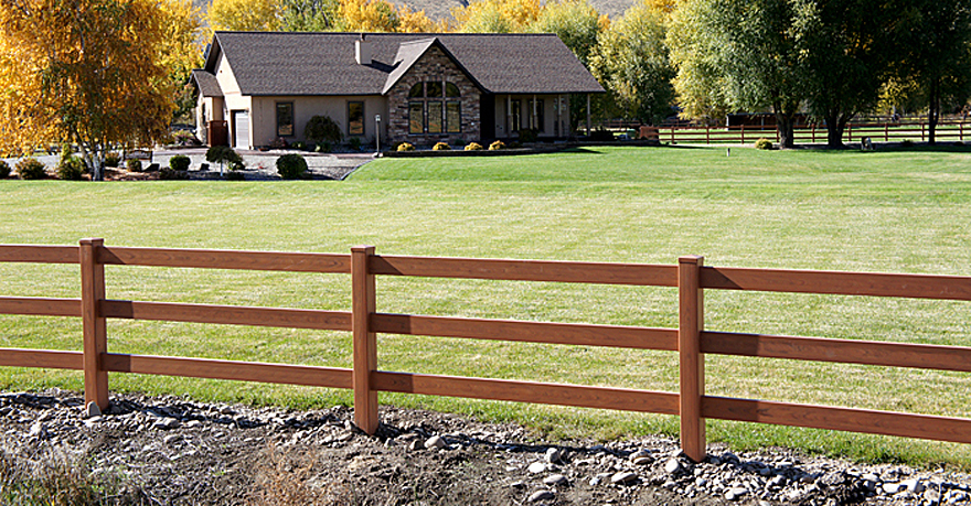 Mocha Ranch Fence Vinyl Fence Wholesaler
