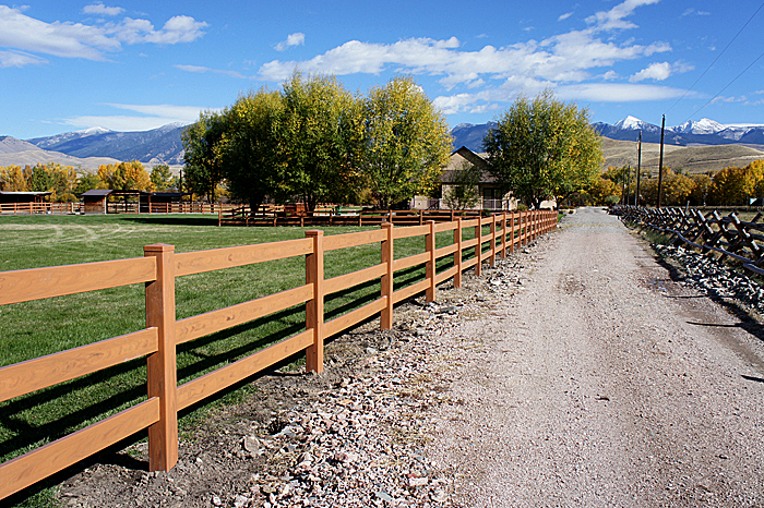 Brown Vinyl Horse Fence Mocha Horse Fencing Vinyl