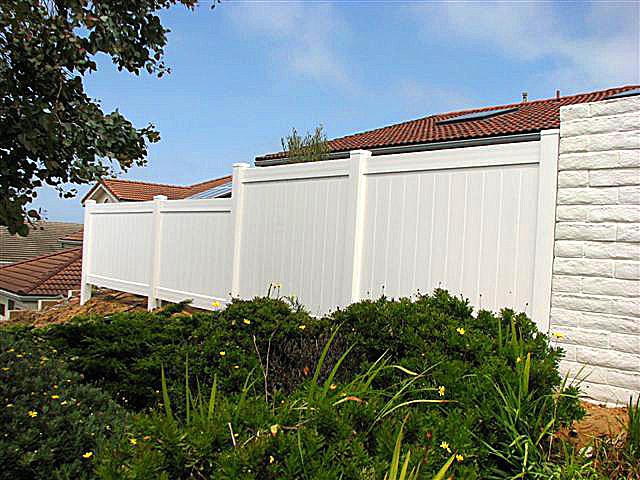 Instant Privacy Decks : Rainier vinyl privacy fence heavy duty