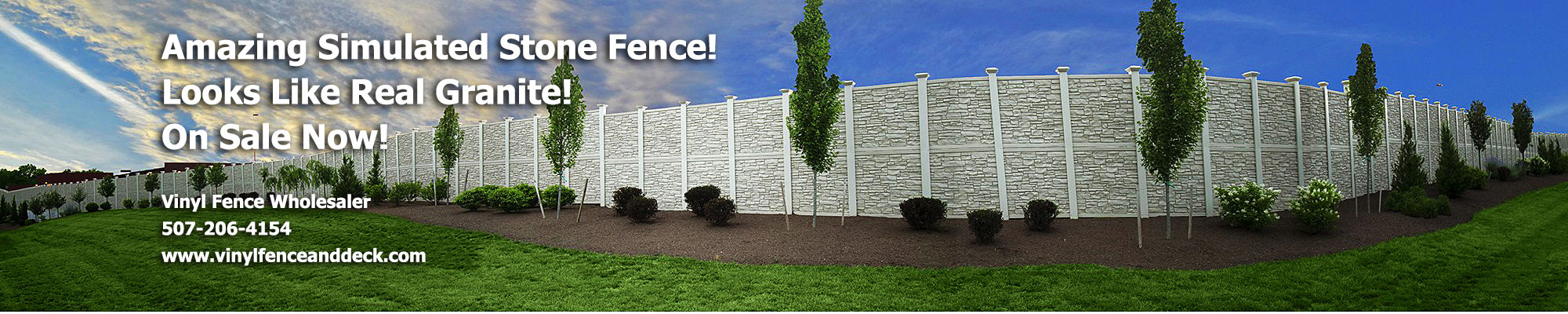 Simulated stone fence simtek ecostone vinyl privacy fence baanklon Gallery