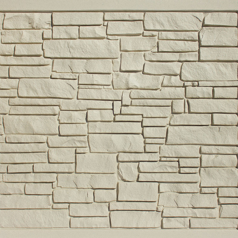 Beige Granite simulated stone fence