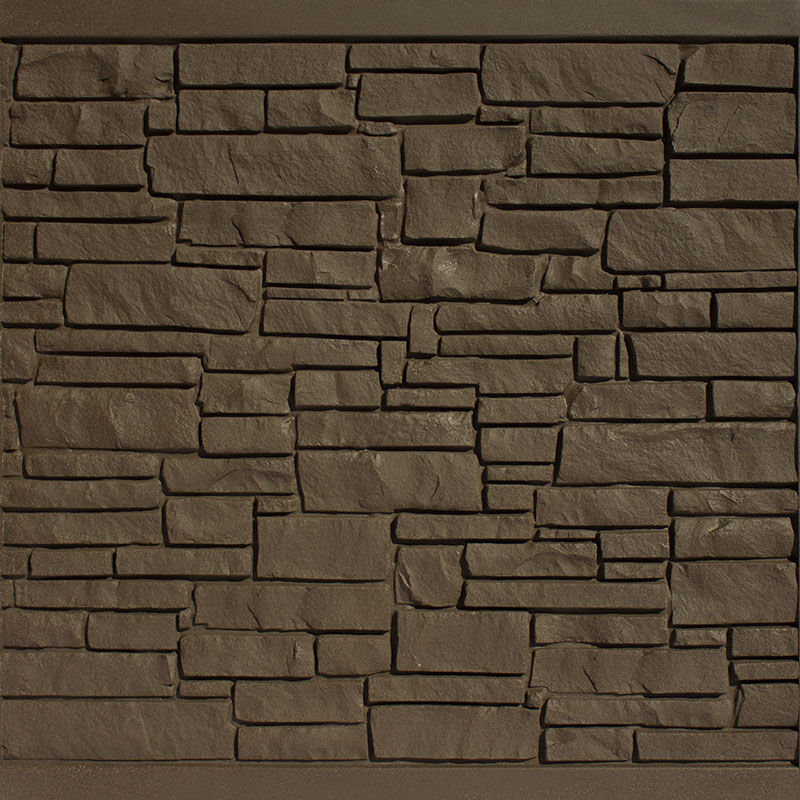 Brown Granite simulated stone fence