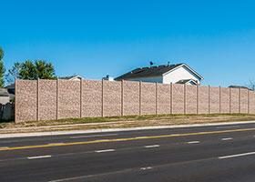 simulated stone fence IDOT Auora IL