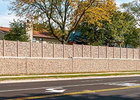IDOT simulated stone fence