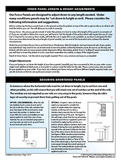 Vinyl Fence Installation Instructions Vinyl Fence Wholesaler