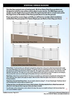 Vinyl Fence Gate Installation Instructions