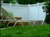 Rainier with Lattice vinyl privacy fence panels