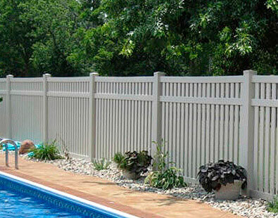 ASHLAND PRIVACY FENCE; On Sale Now Vinyl Pool Fence