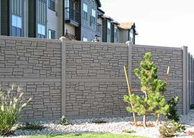 simulated stone fence