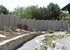 SimTek Ecostone Privacy fence