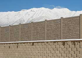 Ecostone Privacy fence