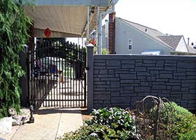 SimTek Ecostone fence panels