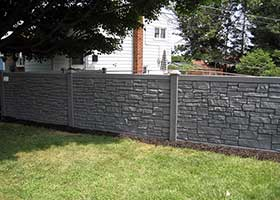 simulated stone fence