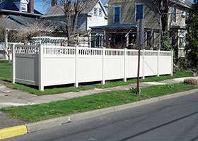 Heavy Duty Texas Vinyl Fence