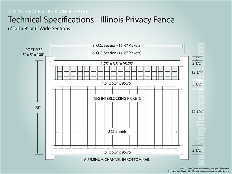 Illinois White Vinyl Fence