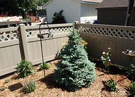8' tall privacy fence